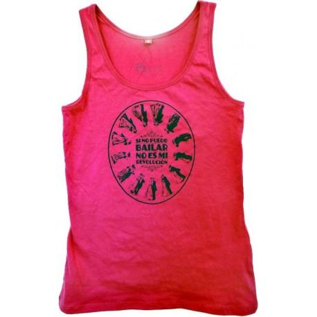 Camiseta tirantes chica rosa Bailar