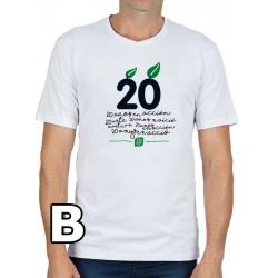 Camiseta blanca Chico aniversario 20 años