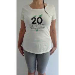 Camiseta crudo chico o chica aniversario 20 años